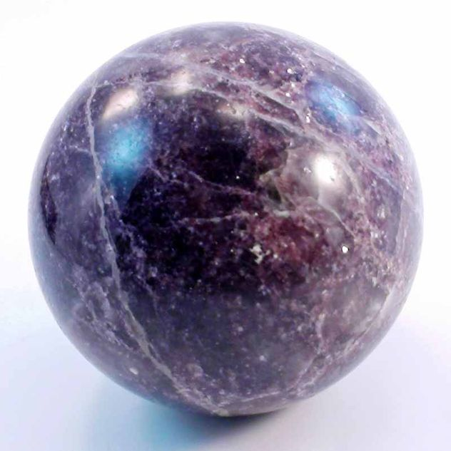 "Lepidolite Sphere - JB2 - 3 1/2"" to 3 9/16"""