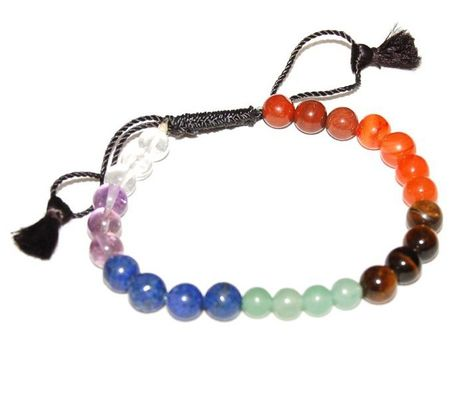Chakra Stones 016 Round Bead Stretch Bracelet - 8mm