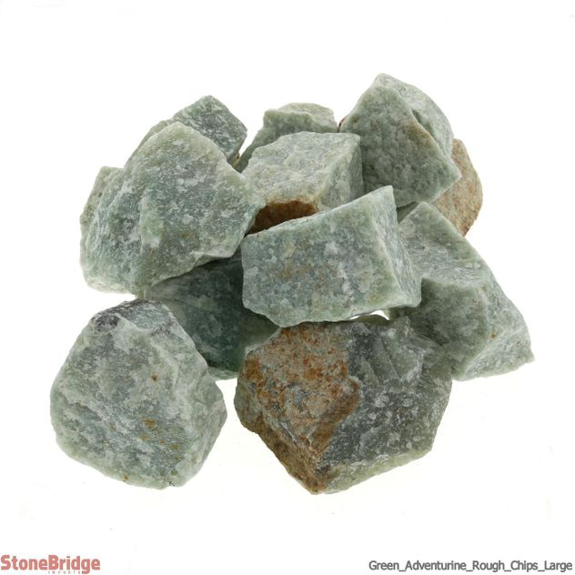 Aventurine Green Chips - 1kg bag - Large