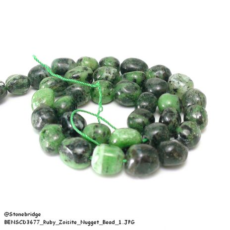 Ruby Zoisite - Nugget Bead