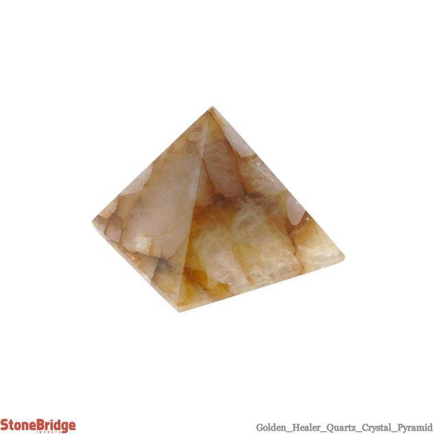 "Golden Healer Pyramid - Size #5 - 2 1/4"" to 2 1/2"""