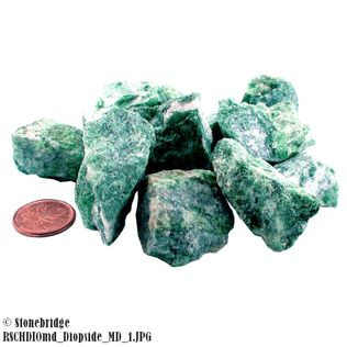 "Diopside Crystal Chips 500g Medium - 8 to 20 pieces per bag - 1"" to 2"""