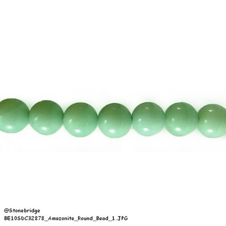 "Amazonite - Round Bead 15"" strand - 4mm"