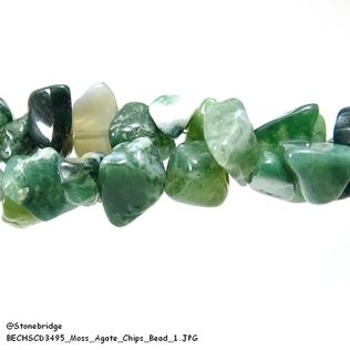 Moss Agate - Chips Bead