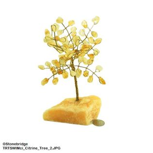 Citrine Gem Tree with Wire Trunk 6""