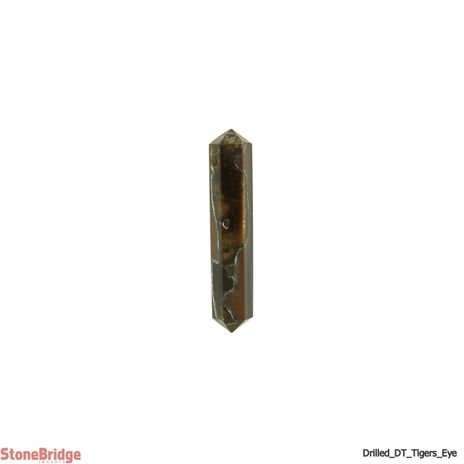 """Tiger Eye Double Terminated Drilled Pendant - 1 3/4"""" to 2 1/4"""""""