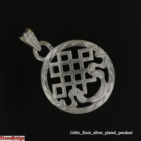 Celtic_Knot_silver_plated_ pendant