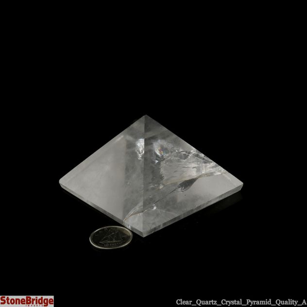 "Quartz Crystal Pyramid - Quality A Size #5 - 2 1/4"" to 2 1/2"""