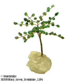 Green Aventurine Gem Tree with Wire Trunk 6""