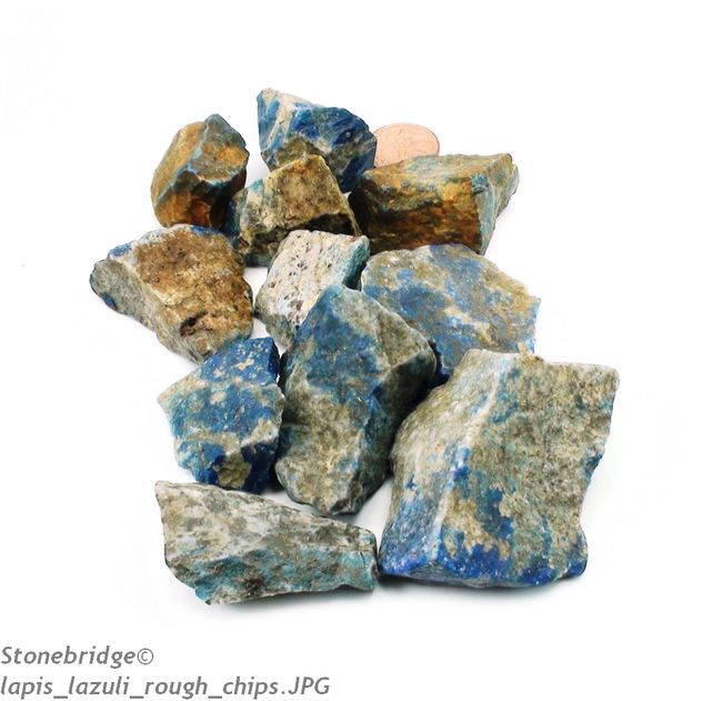 "Lapis Lazuli Chips Quality A - Large 1 1/2"" to 3"" - 500g bag (3 to 6 pieces)"