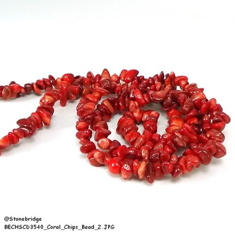 Coral, Red - Chips Bead