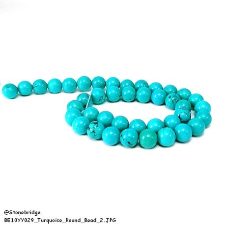 "Turquoise - Round Bead 7"" strand - 16mm"