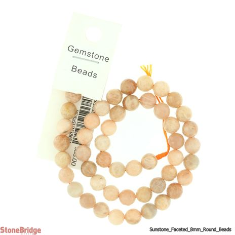 """Sunstone Multi Colour Faceted - Round Bead 15"""" strand - 8mm"""