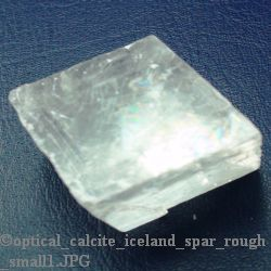 """White Calcite Optical Crystal Natural (Iceland Spar) Size #1 - 1"""" to 1 3/4"""""""