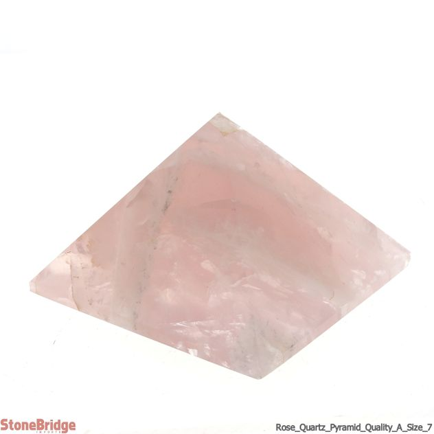 "Rose Quartz Pyramid - Quality A size #7 - 2 3/4"" to 3"""