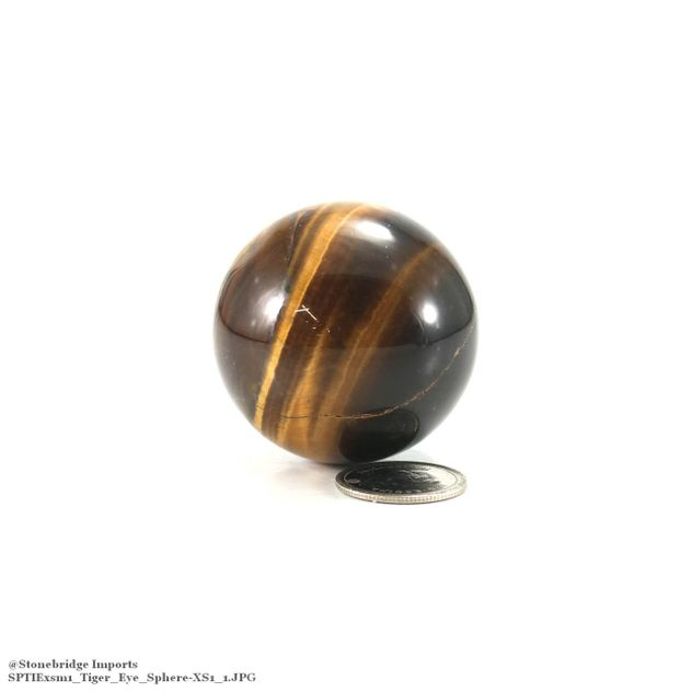 "Tiger Eye Sphere - XSM1 - 45mm (1"" to 1 1/2"")"