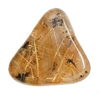 Quartz Rutilated Golden A Tumbled Stone