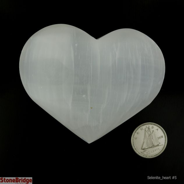 Selenite Puffy Heart - Size #5