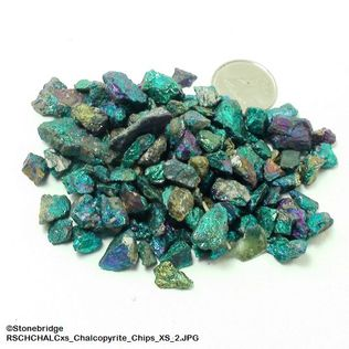 "Chalcopyrite Crystal Chips - 500g bag - X-Small - 1/4"" to 1/2"""