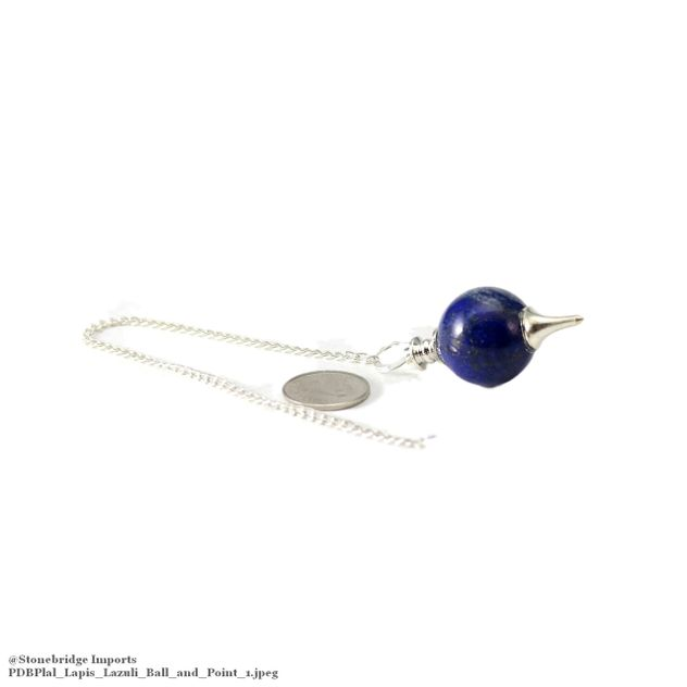 Lapis Lazuli Ball and Point Pendulum
