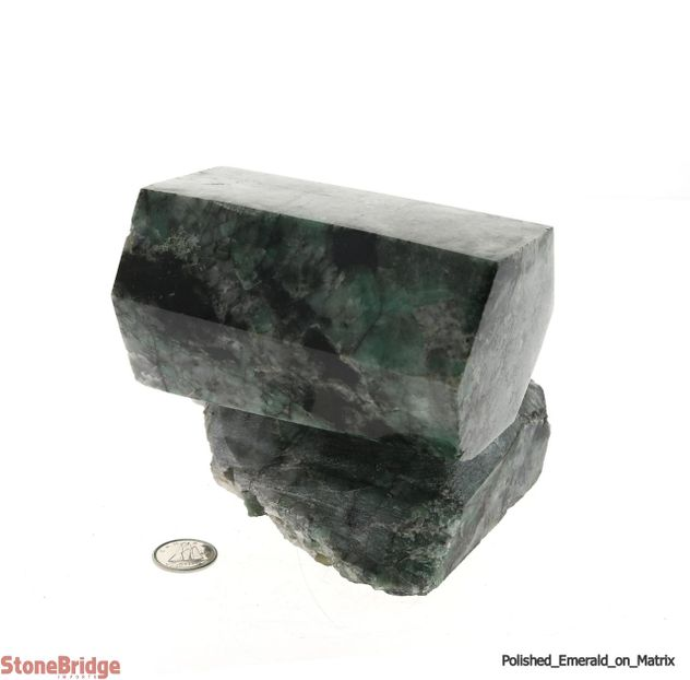 Polished Emerald on Matrix - U10