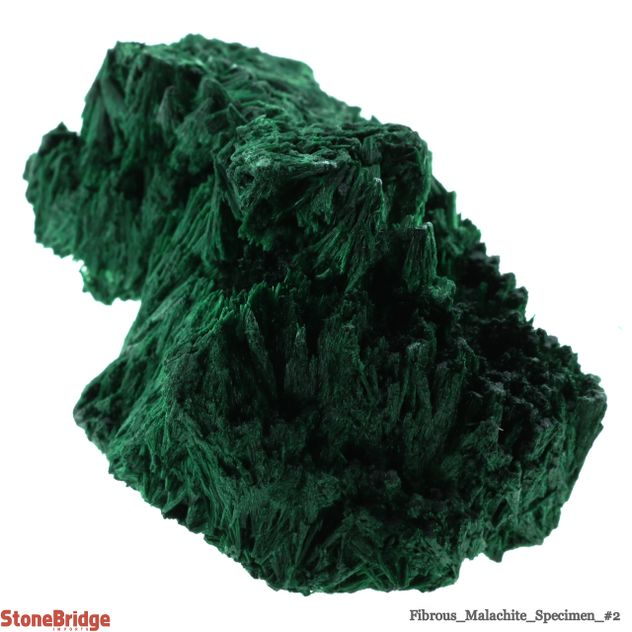Fibrous Malachite Crystal - Size #2 - 50g to 100g
