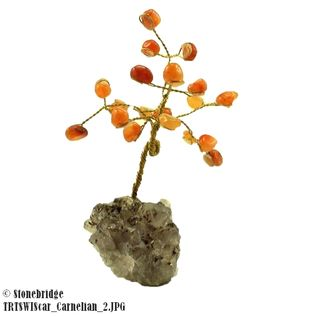 Carnelian Gem Tree with Wire Trunk 4""
