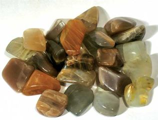 Moonstone Stone Assorted Colours Tumbled Stone - 1/2 lb bag
