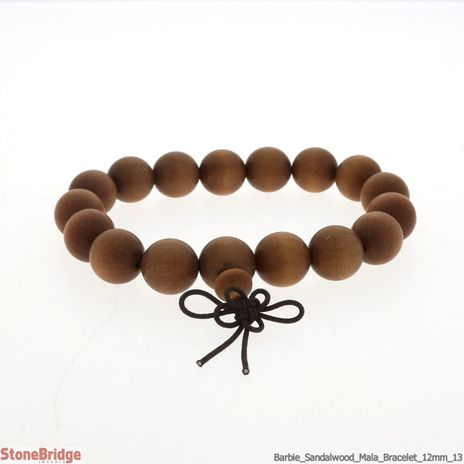 Barbie Sandalwood Mala Bracelet - 12mm
