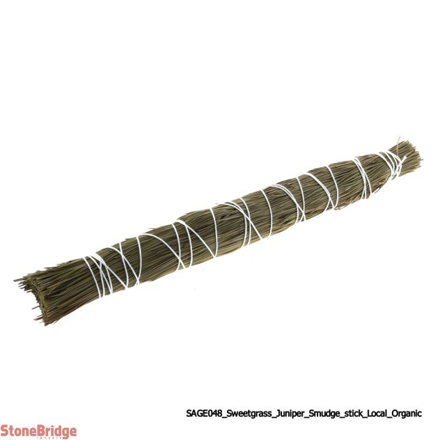 Sweetgrass/ Juniper Smudge Stick - Local, Organic