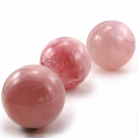 """Rose Quartz A Sphere - Size: X-Small 1 - 1"""" to 1 1/2"""""""