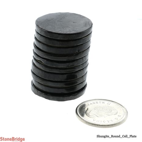 """Shungite Cell Plate Round - 3/4"""" - Pack of 10"""