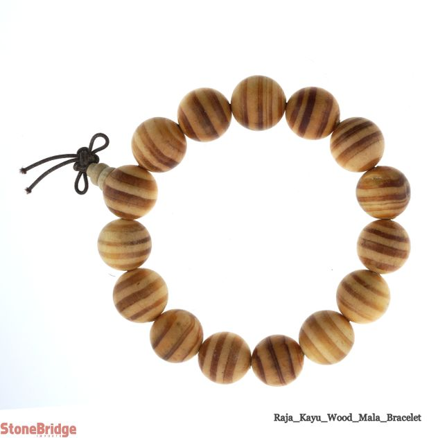 Raja Kayu Wood Mala Bracelet - 15mm -#12