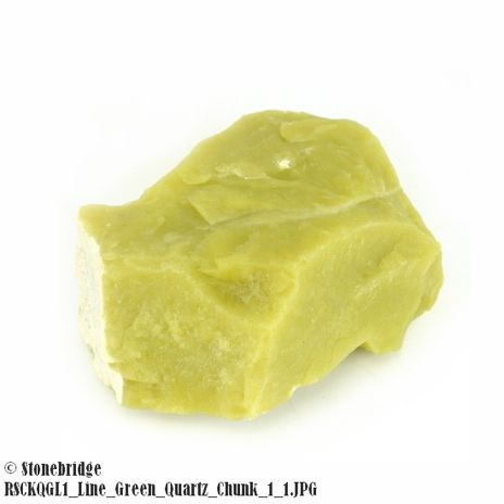 "Lime Green Quartz Chunk Size #0 - 2"" to 4"" - 100g to 300g"