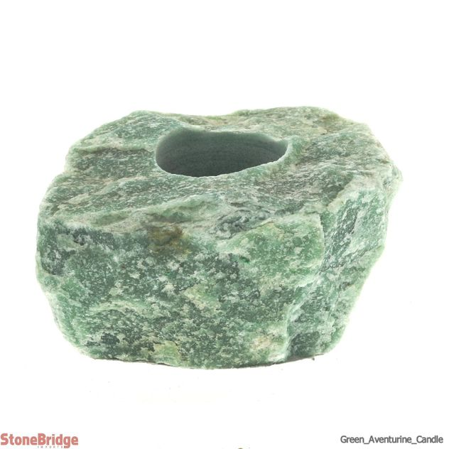 Green Quartz Rough Candle Holder