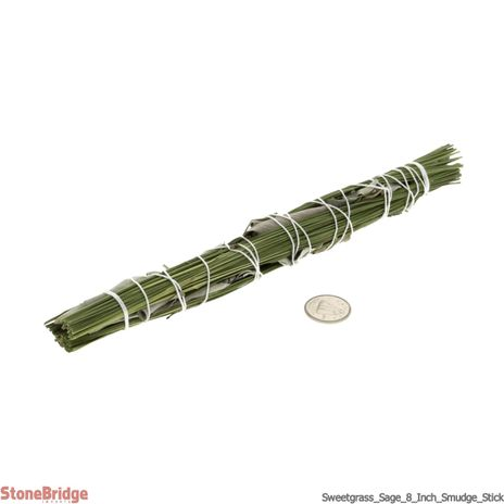 "Sweetgrass/ White Sage 8"" Smudge stick - Local, Organic"