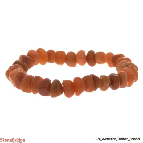 Aventurine Red Type 2 Tumbled Bead Stretch Bracelet