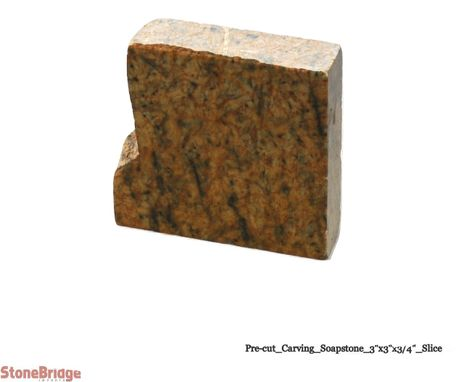 "Soapstone Block for carving (final sale) - Small 3"" x 3"" x 3/4"" - Sealed Pack of 6"