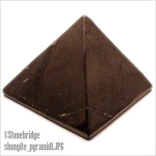 "Shungite Pyramid - 2 3/8"" (60mm)"