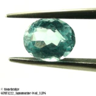 Aquamarine Oval Set of 2 pieces