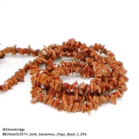 Gold Goldstone - Chips Bead