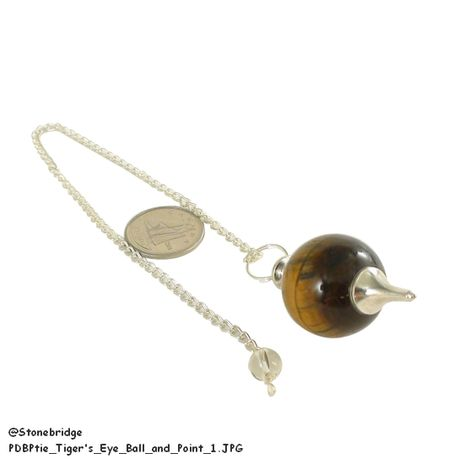Tiger's Eye Ball and Point Pendulum