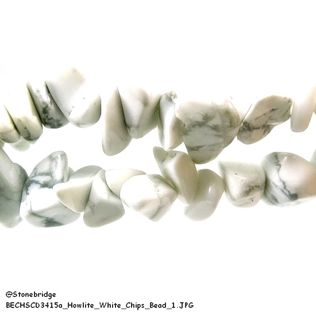 Howlite White - Chips Bead
