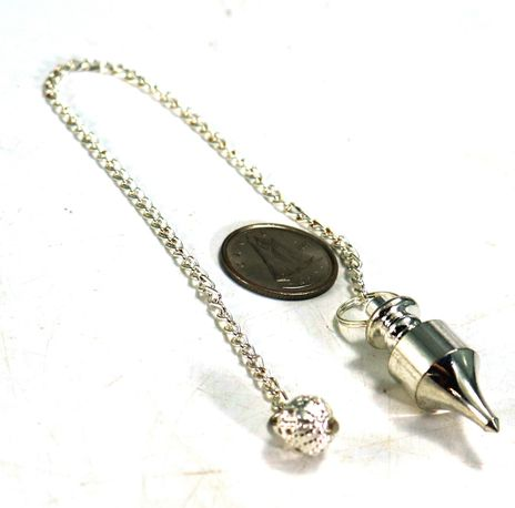 """Metal Pendulum - Silver Colour with Chain - 1 1/4"""""""
