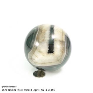 Black Banded Agate Sphere - MD2