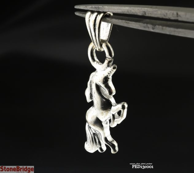 Unicorn silver plated pendant