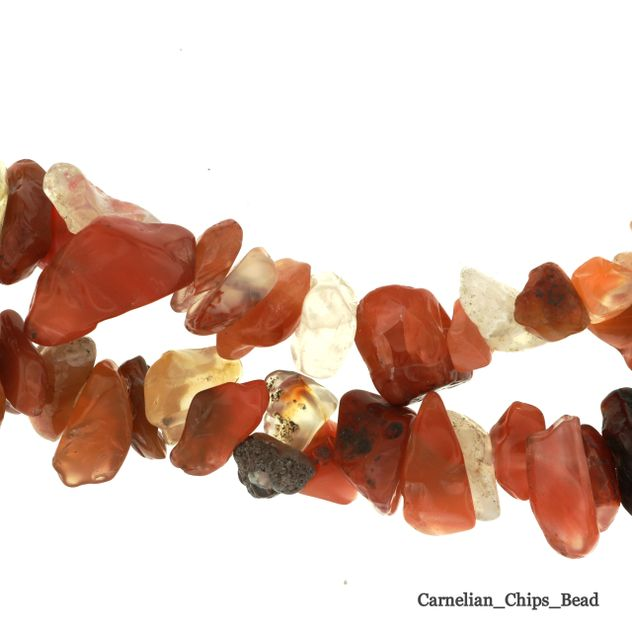 "Carnelian - Chips Bead 32"" strand - 5 to 8mm"